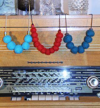 Felted beads by Pipo&mitten ~ Pipo&mitten huovutetut helmet