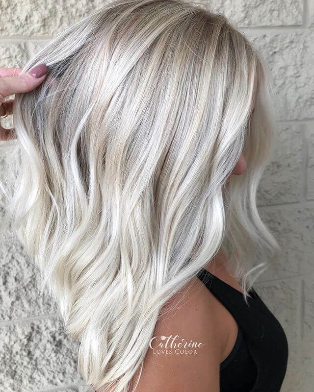 50 Stylische Long Bob Frisuren Die Wir Lieben Frisuren 2019 Bob Bobfrisurenideen Die In 2020 Haarfarbe Blond Haarfarben Eisblond