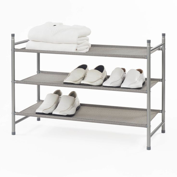 Sandra 3-Tier Stackable Shoe Rack