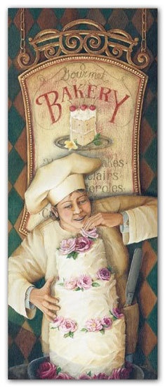 chef.quenalbertini: Bakery Chef illustration