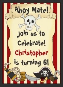 49 best pirate birthday invitations images on pinterest pirate skull and crossbones on red stripes pirate birthday invitation filmwisefo
