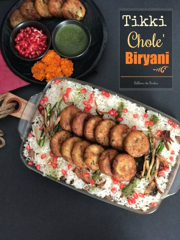 Tikki Chole and chole chawal both are popular street dishes from Delhi but I have clubbed them to make an interesting Biryani
