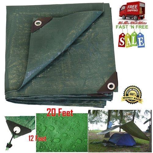 Waterproof Tarp Tent Reinforced Garden Shade Rust Resistant Grommet Camping 20ft #Stansport