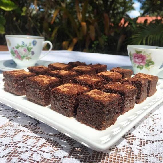 Gooey Fudge Brownies (made with green banana flour, dark chocolate, dates, eggs, coconut oil)