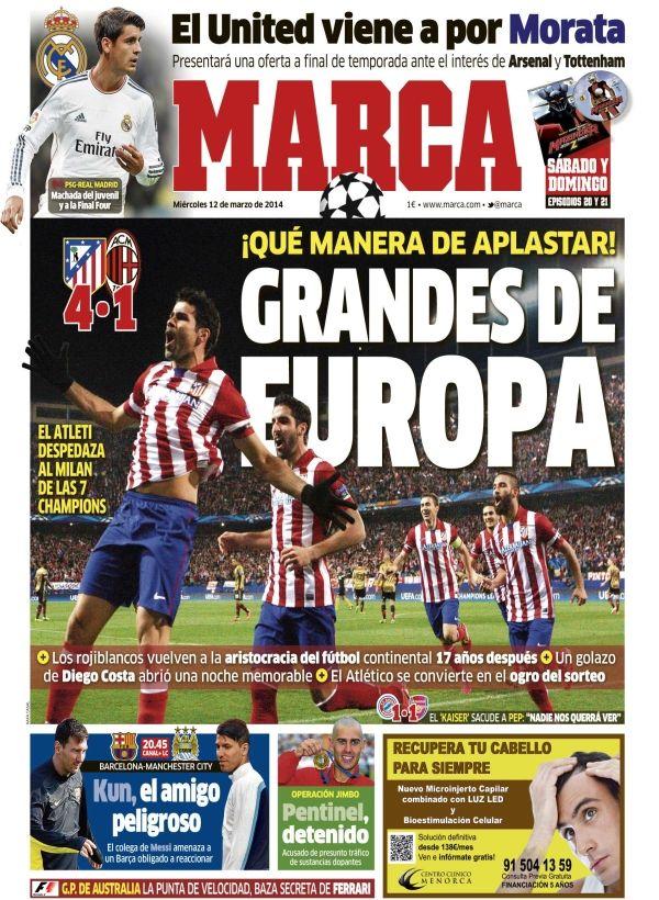 'Grandes de Europa'   La portada del 12 de marzo de 2014