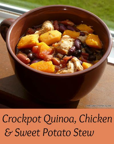 Crockpot Quinoa, Chicken & Sweet Potato Stew