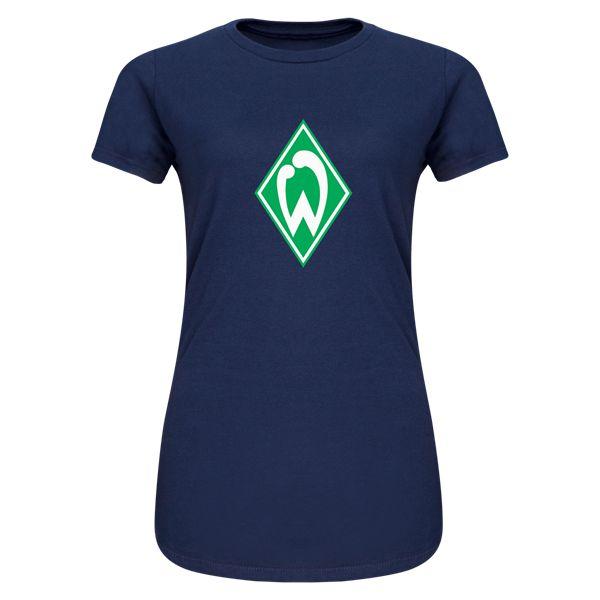 Werder Bremen Junior Womens T-Shirt (Navy)