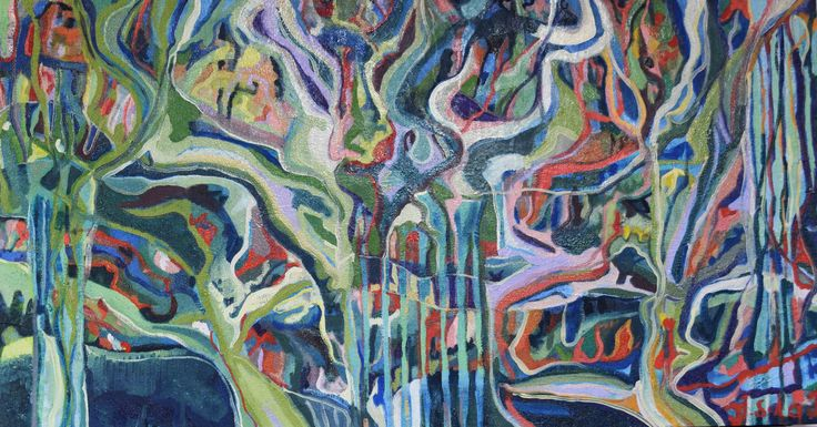 Jennifer Sulaj - Flowing, 85cm x 65cm H, $850