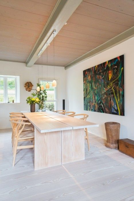 Wooden floorboards and plank table - Douglas by Dinesen