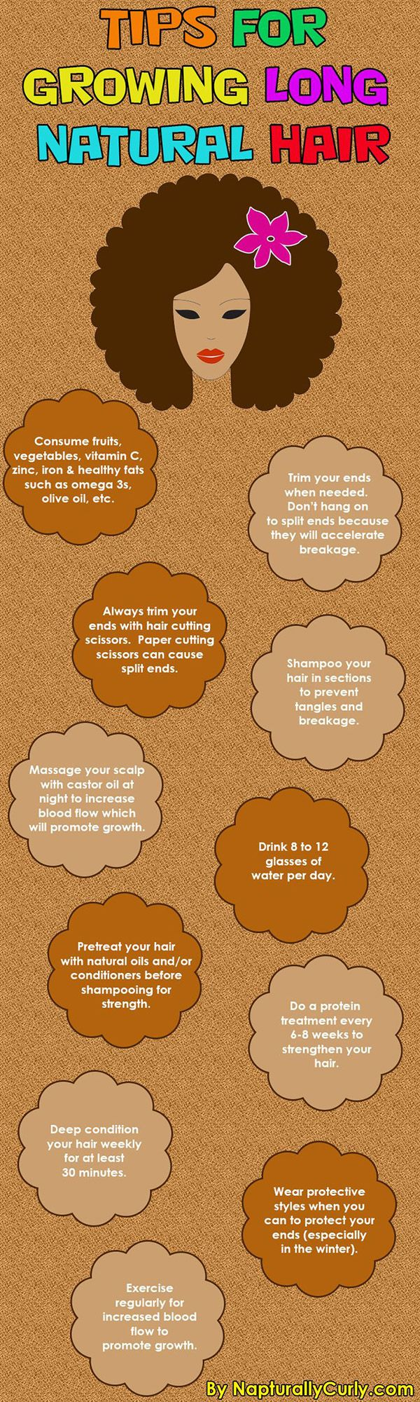 These basic tips are really important to know if you're trying to grow your natural hair.  - If you like this pin, repin it and follow our boards :-)  #FastSimpleFitness - www.facebook.com/FastSimpleFitness