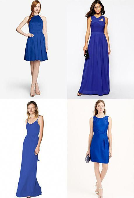 Brides Cobalt Blue Bridesmaid Dresses Howtoplanaweddingunder5000