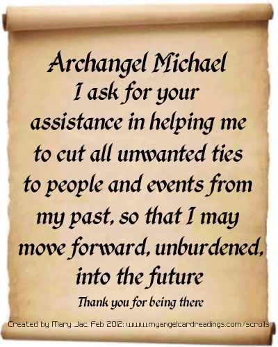 Archangel Michael helps heal and protect.