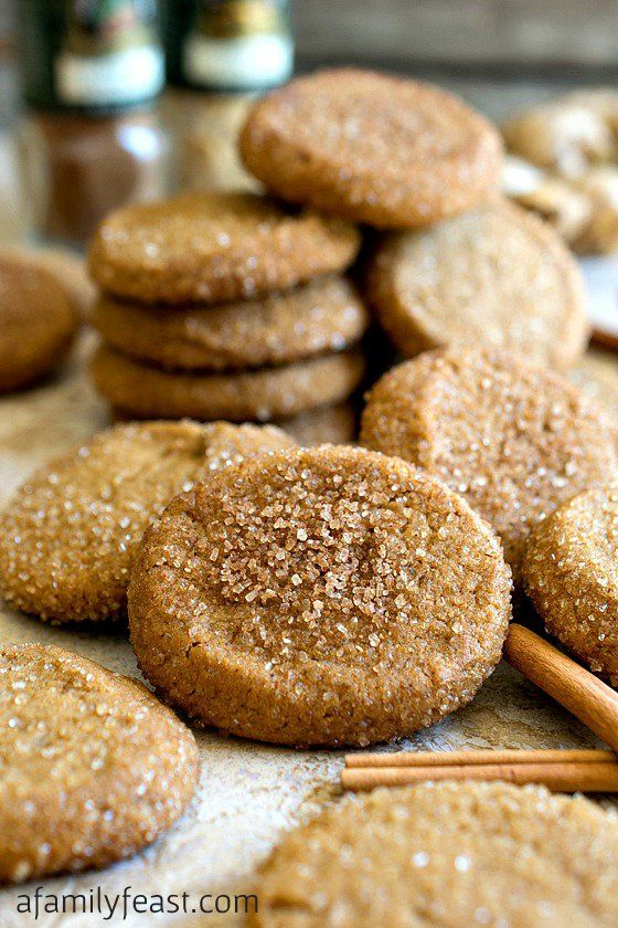 Gingersnaps make great homemade gifts! The Greatest Holiday Cookie Recipes Ever