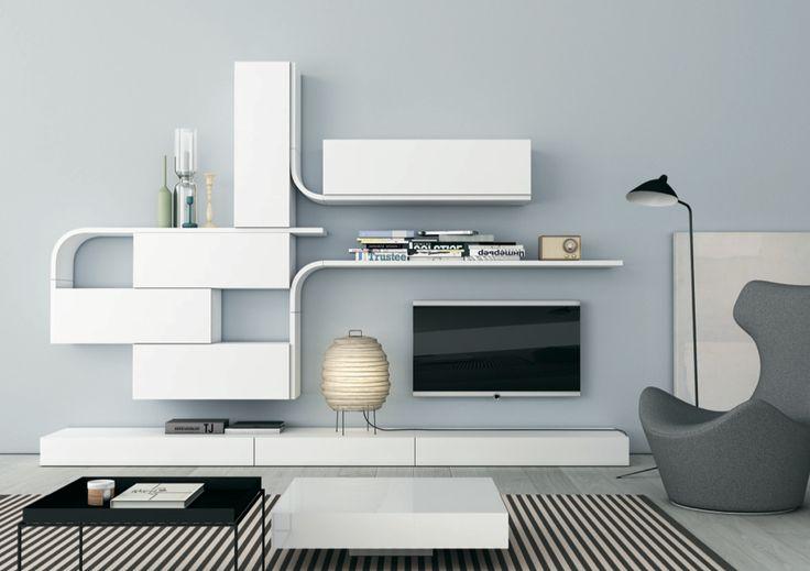 Mueble TV blanco