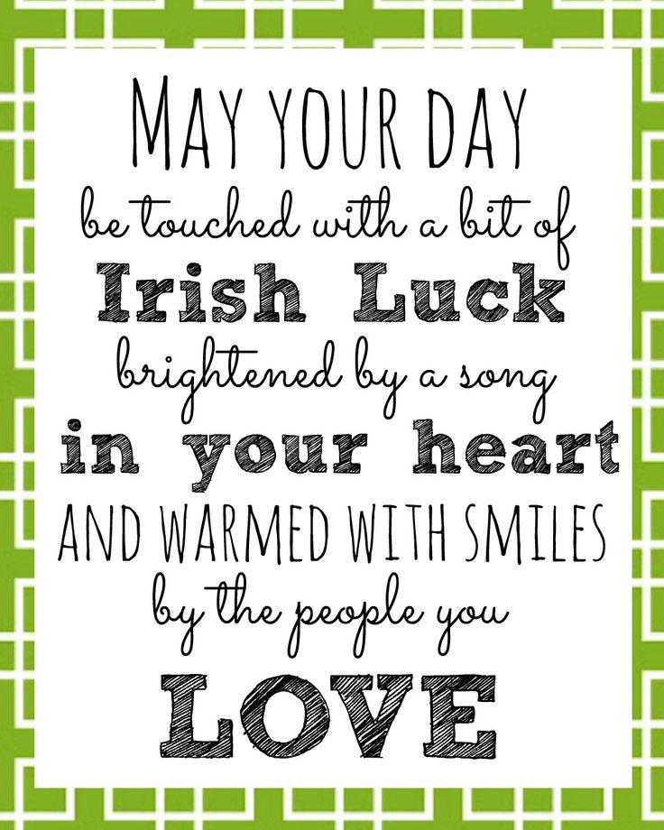 Irish Blessing Printable for St. Patrick's Day.