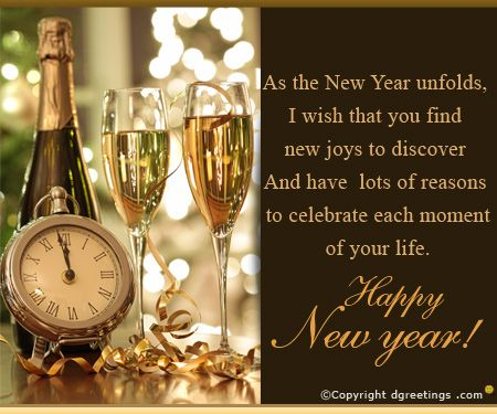 Wish a New Year filled with peace, prosperity and happiness.
