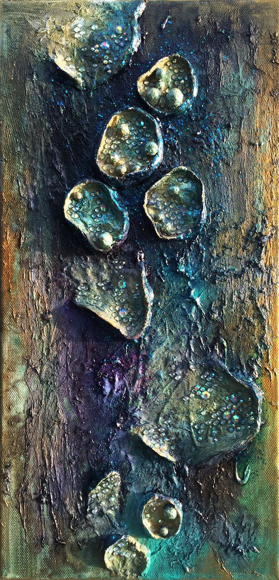 Night Flowers modern abstract wall sculpture mixed door ABYSSIMO