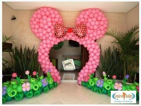 Minnie balloon arch arcos en globos pinterest - Globos para fiesta ...
