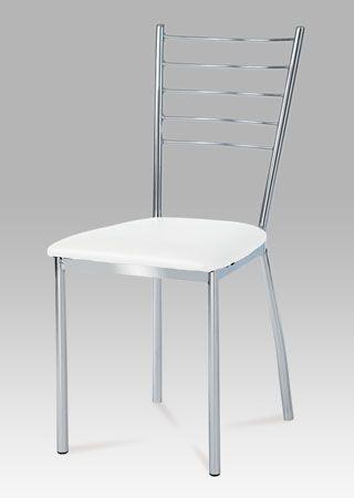 AUC-178 WT Jídelní židle v provedení chrom/koženka