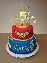 Wonder woman birthday cake