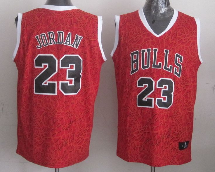 Men's NBA Chicago Bulls #23 Michael Jordan Crazy Light Swingman Red Jersey
