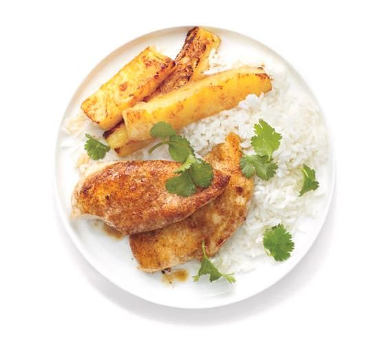 Jerk Chicken With Seared Pineapple recipe