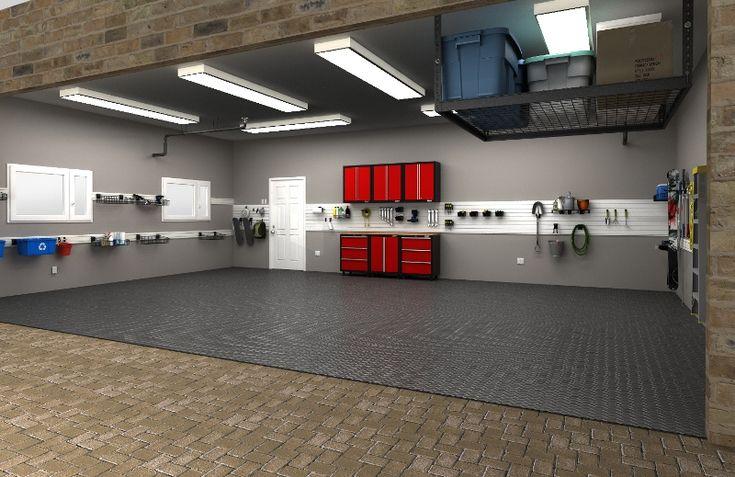 90 best garage floor walls images on pinterest garage for Garage automobile 74