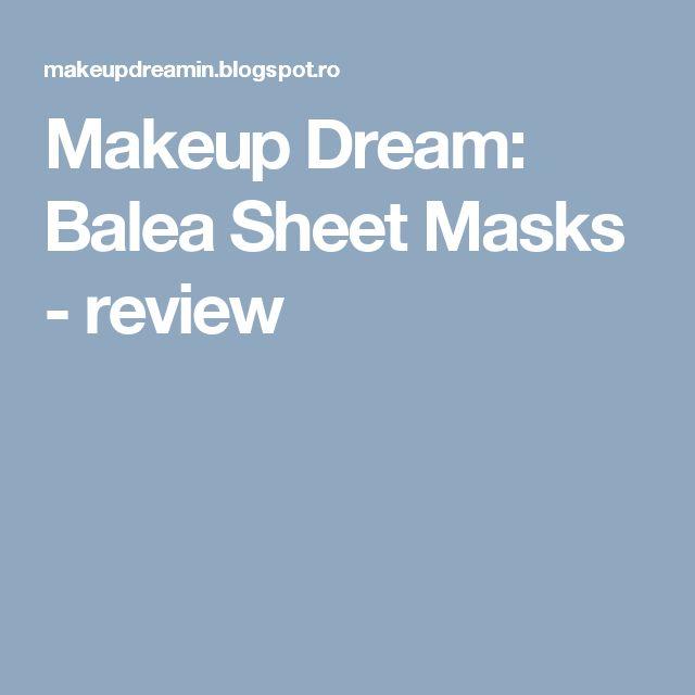 Makeup Dream: Balea Sheet Masks - review