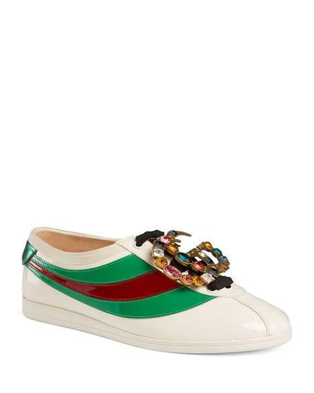 c3a89bb4b Gucci Falacer Patent Leather Trainer in 2019 | Shoe Spotlight ...