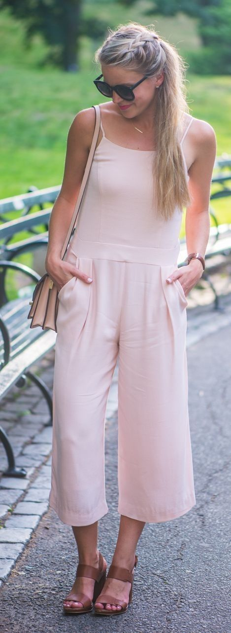 #nude #neutrals #spring #style #outfitideas |Nude Jumpsuit |Styled Snapshots