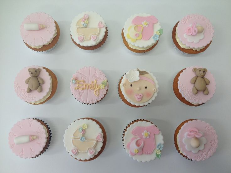 Vintage baby cupcakes by Sugarcloudcakes  Cute Baby Cupcakes, Cute Christening Cakes By http://sugarcloudcakes.com.au