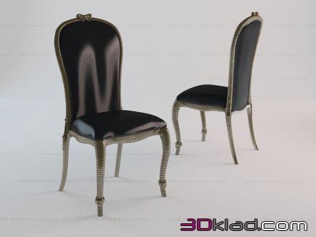 3d модель стул с резным декором Nancy sedia Paolo Lucchetta