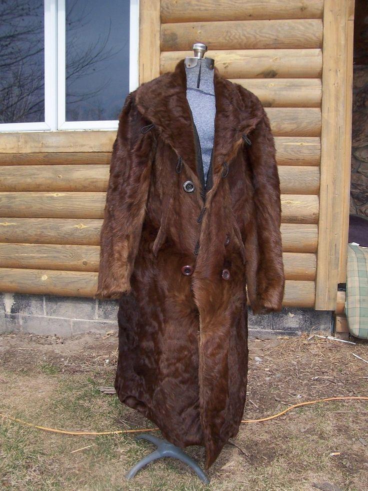 Vintage Bear horse full length Fur Coat pelts Mountain Man