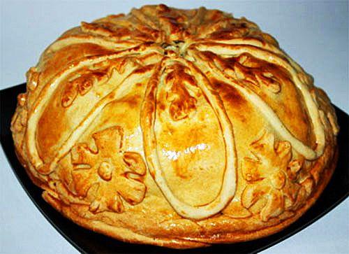 «Король пирогов» курник из блинов с курицей и грибами — Фактор Вкуса