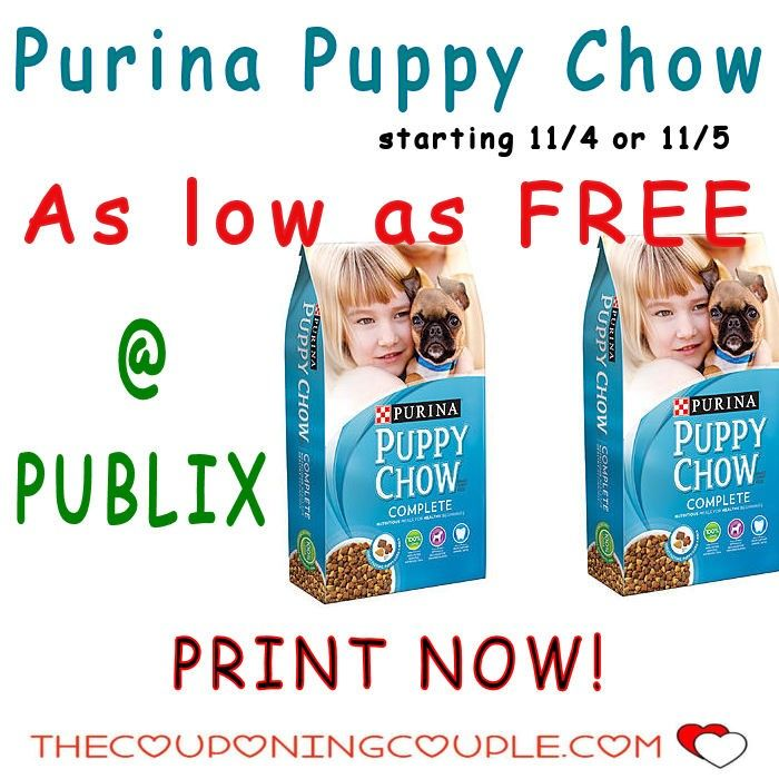 Purina Puppy Chow As Low As Free @ Publix 11/5-11/11(11/4-11/10 for some). PRINT This Coupon Now while they last and hold for this deal. Wow  Click the link below to get all of the details ► http://www.thecouponingcouple.com/purina-puppy-chow-as-low-as-free-publix-115-1111/ #Coupons #Couponing #CouponCommunity  Visit us at http://www.thecouponingcouple.com for more great posts!