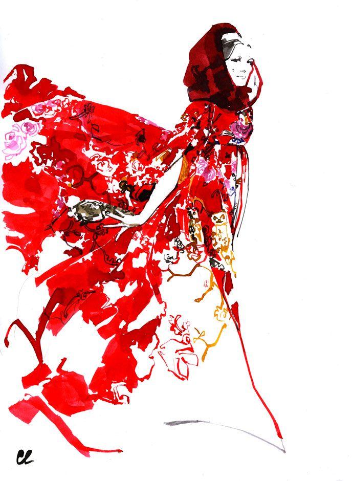 Marc Antoine Coulon fashion illustration for Dolce & Gabbana Spring/Summer 2014
