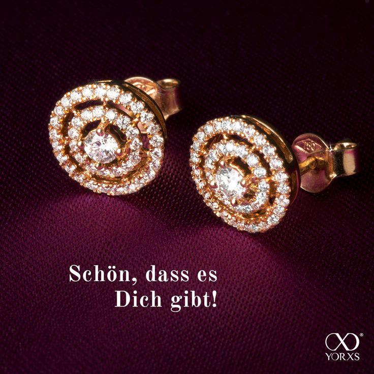 """""""Galatea"""". Halo-earrings with 82 diamonds! #galatea #rosegold #18karat #diamanten #brillanten #diamantohrstecker #diamantohrringe #diamantschmuck #hochwertig #yorxs"""
