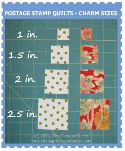 Nice explanation about getting started on a postage stamp quilt
