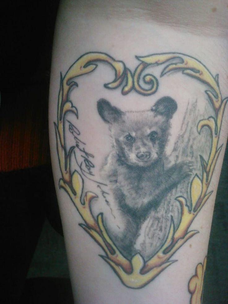 Studios - My bear cub for my Dad done by Jenn Ponci. Forarm tattoo ...