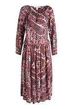 Paisley potištěné maxi šaty