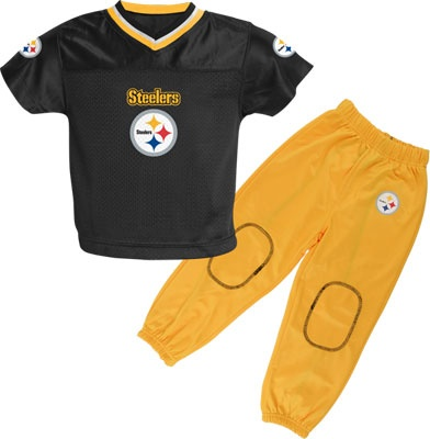 Pittsburgh Steelers Kid's Football Jersey and Pant Set #steelers #pittsburgh #nfl