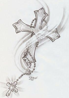 Cross tattoo rosary