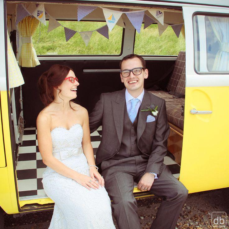 VW Campervans as simply the best transport for a wedding #wedding #fun #funweddingphoto #weddingphoto #weddingphotography #weddingideas #photography #kentwedding #kent #vwcampervan #romance #love