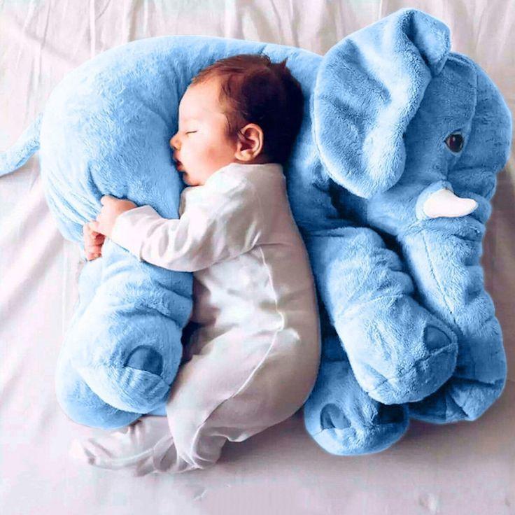 Baby Kind Elefant Schlaf Stuffed weichem Plüsch Kissen Lendenkissen Plüschtiere Stoffspielzeug besten Geschenke für Kinder und Baby Mehrfarbig (Blau): Amazon.de: Spielzeug