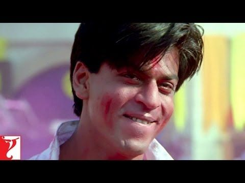 Soni Soni from Mohabbatein-- probably Bollywood's most famous Holi song, starring the brilliant Shahrukh Khan.