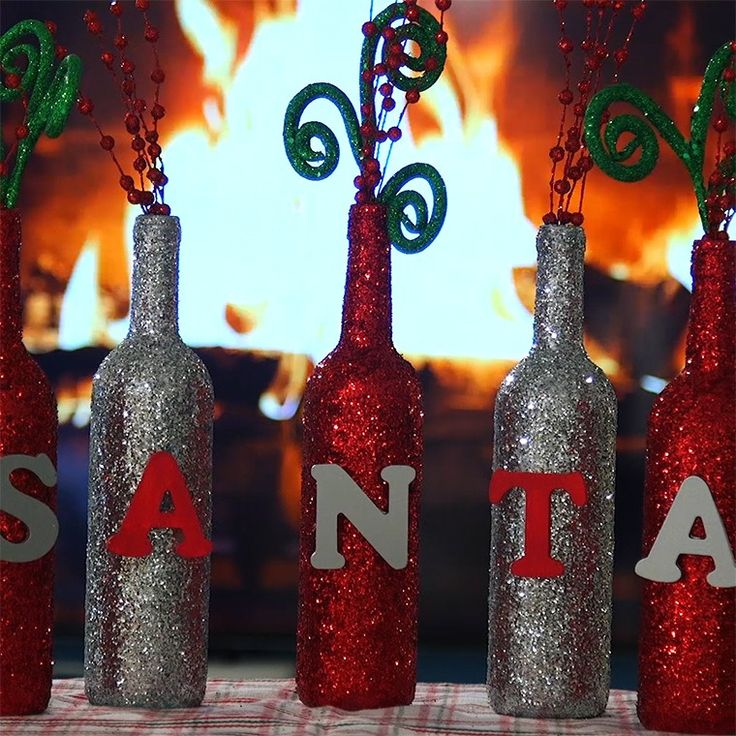Christmas is just around the corner and if you need a last minute craft to do, why not use up all those old wine bottles and turn them into something beautiful. With a quick coat of paint and some sparkles, you can turn your wine bottles into a gorgeous centerpiece or display for your mantle. Check ...