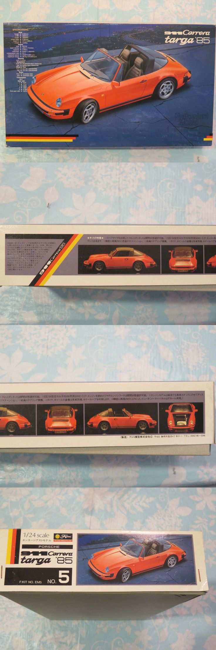 1 24 Scale 145974: Fujimi 1 24 Porsche 911 Carrera Targa 1985 Plastic Model Kit (Not Complete) -> BUY IT NOW ONLY: $37 on eBay!