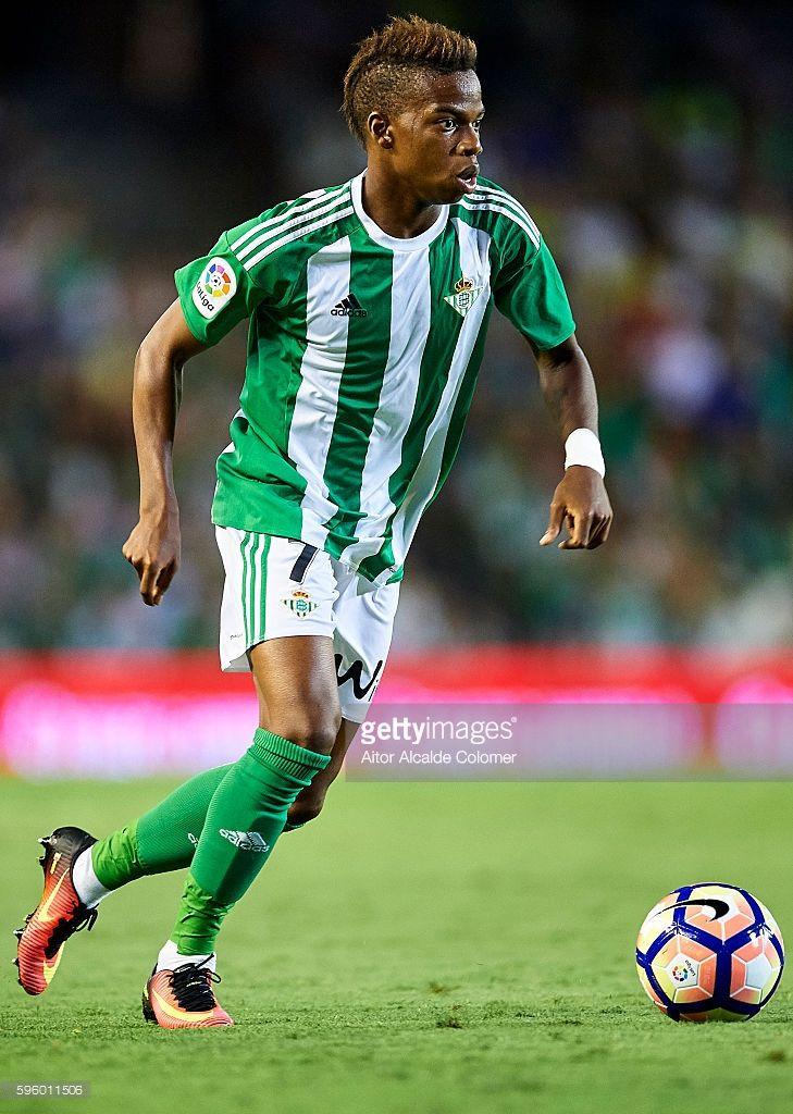 Musonda JR. of Real Betis Balompie in action during the match between Real Betis…