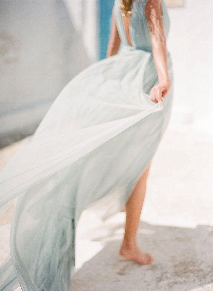 Graceful Bridal Inspirations atSantorini by Vaisa Han Photography