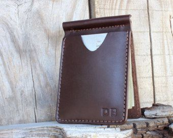 Money Clip Leather Wallet for Men. Men's Money Clip